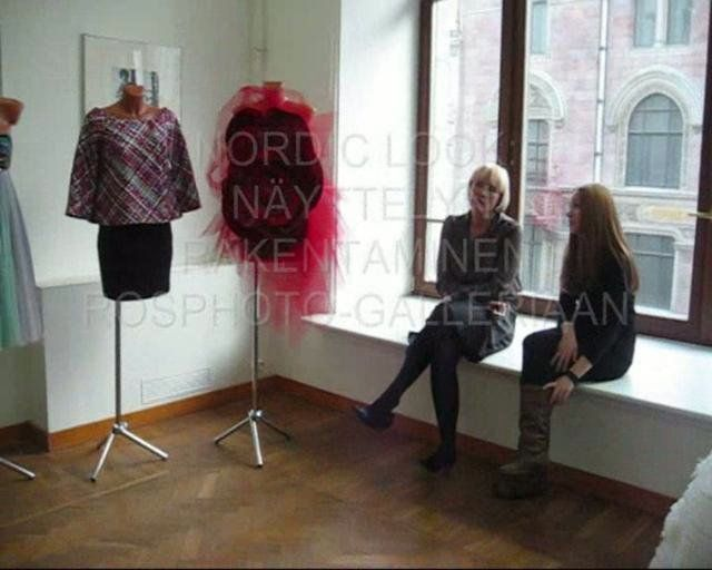 The Information office of the Nordic Council of Ministers in St. Petersburg, Russia, arranged an exhibition of designer fashion pieces in rosphoto Gallery. The designers visited also Etagi, the design shop and gallery of modern art, as well as the glorious Museum of Russian art.