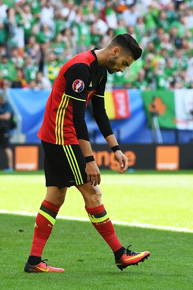 Yannick Carrasco of Belgium looks on during the UEFA EURO 2016 Group E match between Belgium and Republic of Ireland at Stade Matmut Atlantique on...