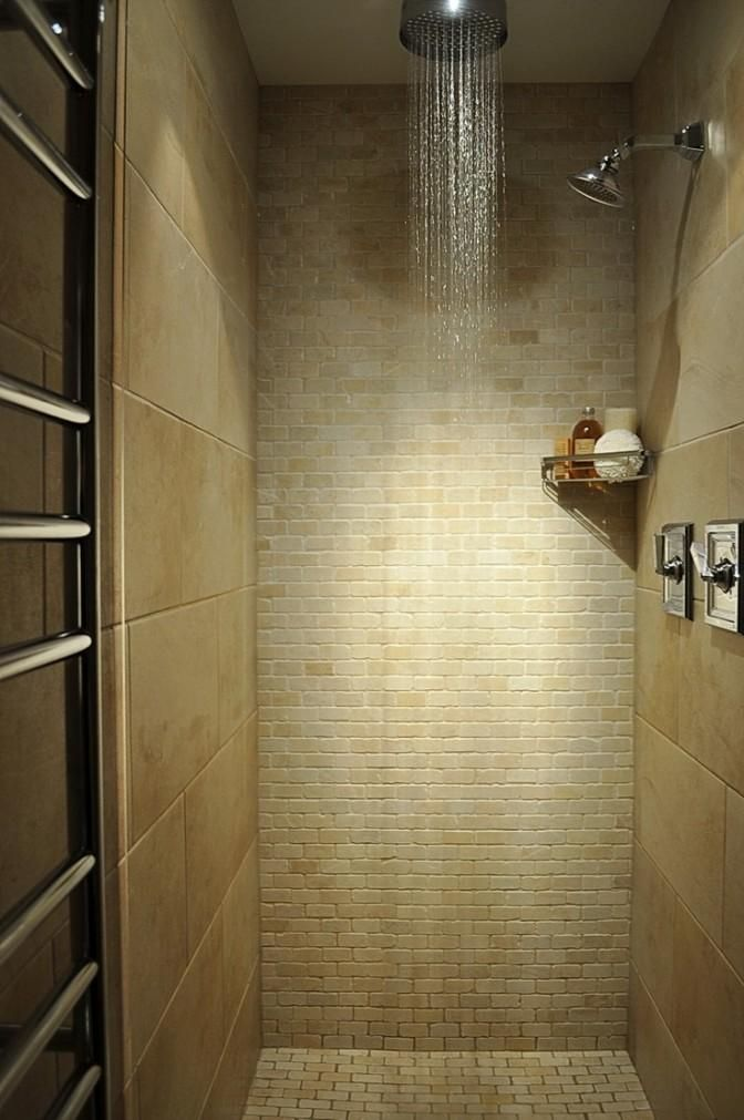 Awesome Shower Stalls For Small Bathrooms Part 4 - Tile Rain Shower Head