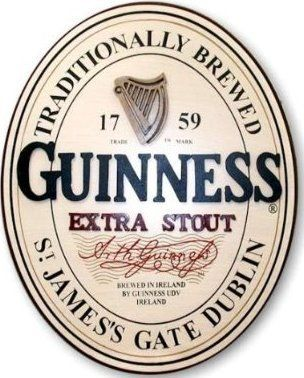 Arthur Guinness Extra Stout Irish Beer Pub 3D Pint Glass Wood Wall Home Bar Sign - Visited the Distillery - huge place