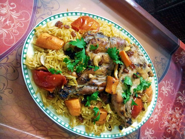 Bahrain - Chicken Machboos is the national dish of Bahrain. A spiced chicken and rice dish, this recipe is thoroughly authentic and guaranteed delicious.