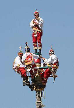 Flying Men starting their dance, Teotihuacan...