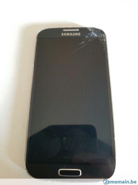 Samsung Galaxy S4 (GT-I9505 Noir fonctionnelle écran fissuré