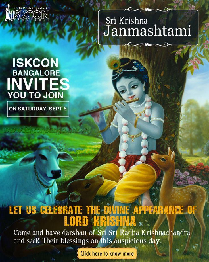 We invite you for Sri Krishna Janmashtami celebration @ ISKCON Bangalore, Hare Krishna Hill, Chord Road.