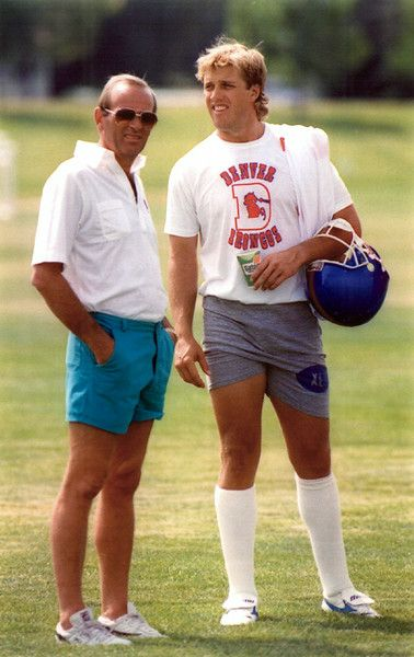 Pat Bowlen with John Elway in 1994. John Leyba, The Denver Post