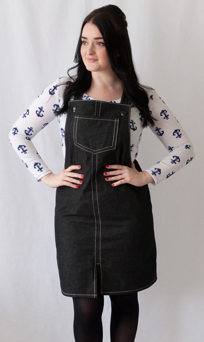 Tilly and the Buttons - Cleo Dungaree Dress - The Crafty Pinup