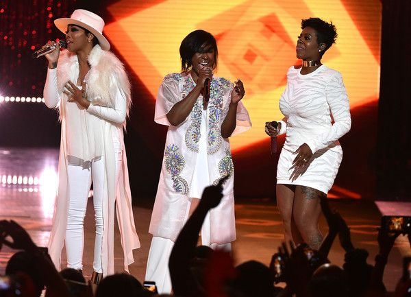 Fantasia Barrino Photos Photos - (L-R) Monica, Tweet, and Fantasia perform onstage during the VH1 Hip Hop Honors: All Hail The Queens at David Geffen Hall on July 11, 2016 in New York City. - VH1 Hip Hop Honors: All Hail The Queens - Show