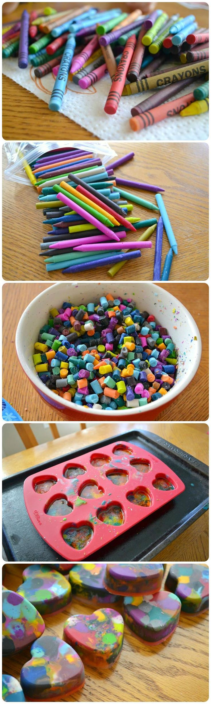 This Valentine's Day heart crayon DIY will melt your heart.
