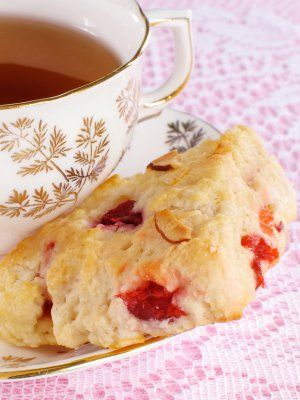 No Butter Raspberry Scones