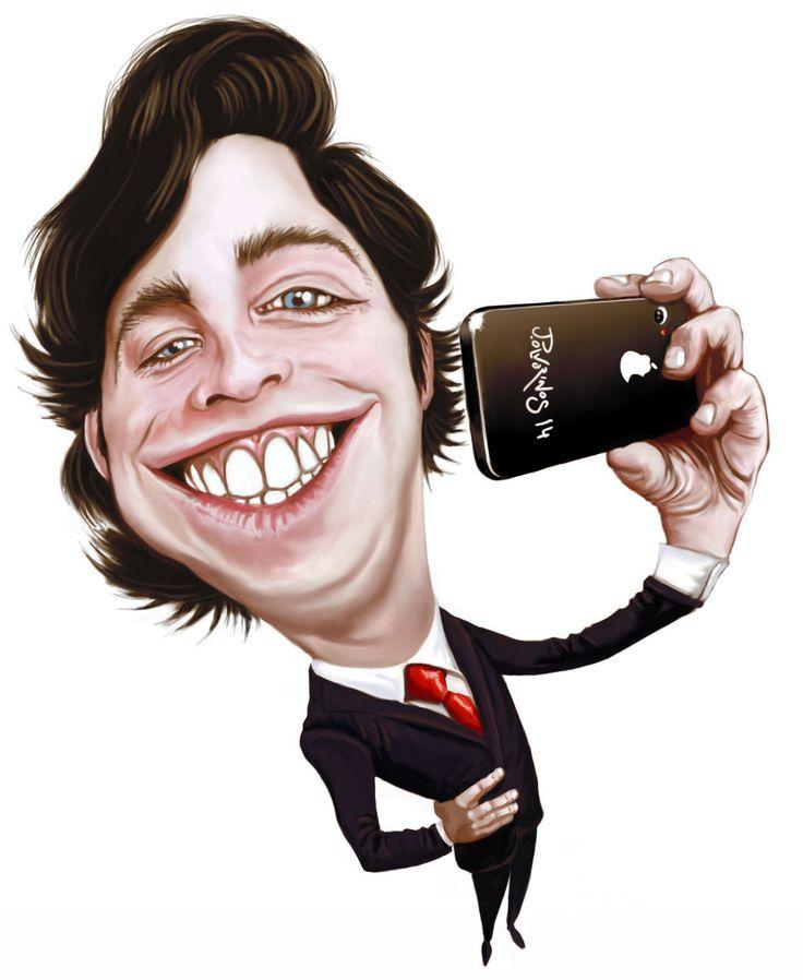 Caricatura del Pequeño Nicolás realizada con tableta gráfica y programa de retoque fotográfico digital sobre un boceto realizado a lápiz previamente.
