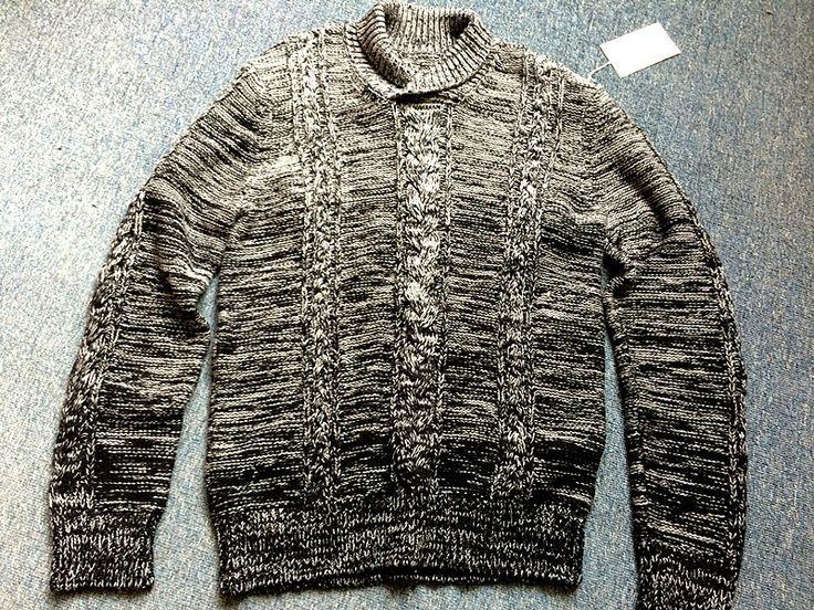 LS3-4917 Men's Sweater: 70% Cotton,30% Polymide,2/28,3G,Size L,804g.