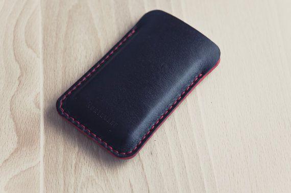 Horween Devil's Eye Red Iphone Case/Leather от northwardhandcraft