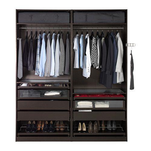 l200 h236 p60 pax armoire penderie ikea garantie 10 ans gratuite d tails des conditions. Black Bedroom Furniture Sets. Home Design Ideas