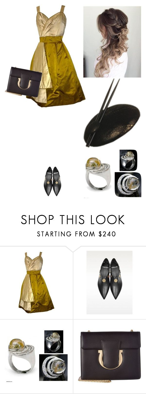 """""""Cocktails #7"""" by amory-eyre ❤ liked on Polyvore featuring Pierre Hardy, NOVICA and Salvatore Ferragamo"""