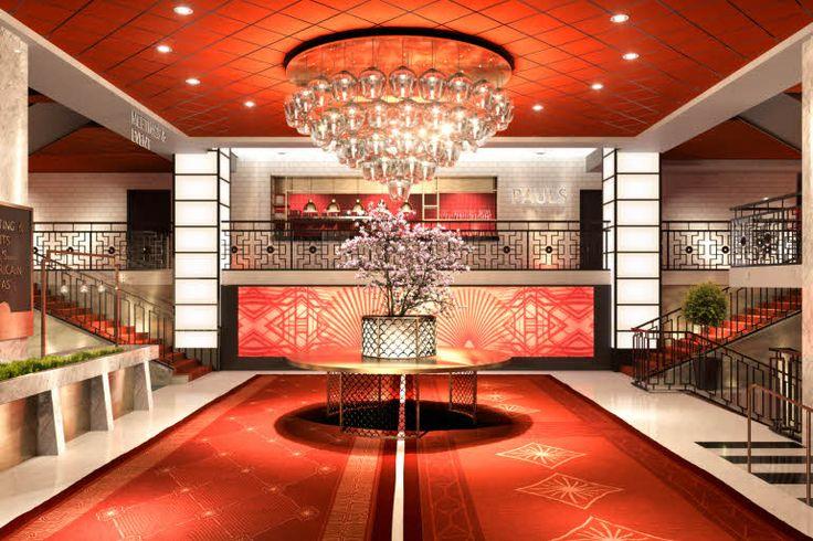 Lobby Scandic Haymarket in Stockholm. Art deco 20's design.