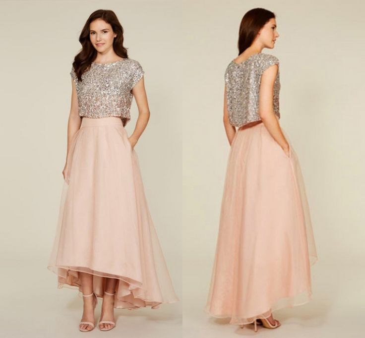 Best Two Piece Bridesmaid Dresses Ideas On Pinterest Neutral