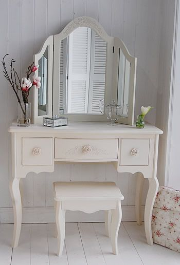 Peony Cream Dressing Table