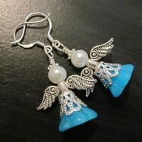 Easy to Make Jewelry- DIY Your Guardian Angel Earrings. Thinking of making these as Christmas presents.