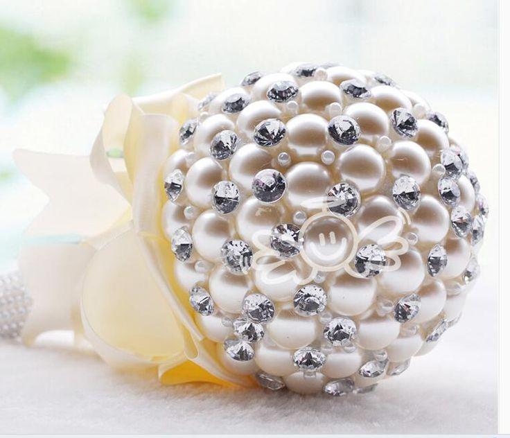 2014 newest upscale Korean bride holding flowers pearl diamond wedding gift wedding supplies