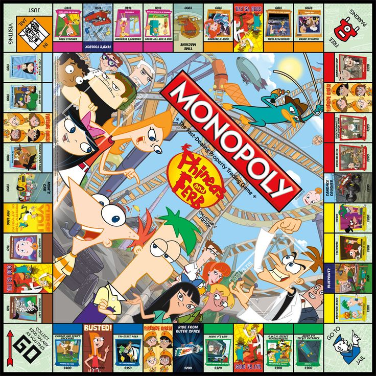 Phineas and Ferb Collector's Edition collectible Monopoly game board. Ferb, I know what we're going to do today...try to win it all!   Buy it now! http://www.amazon.com/Monopoly-Phineas-Ferb-Collectors-Edition/dp/B007A5R30I/ref=sr_1_1?ie=UTF8=1348258023=8-1=phineas+usaopoly  Want more info?http://www.usaopoly.com/games/monopoly-phineas-and-ferb-collectors-edition