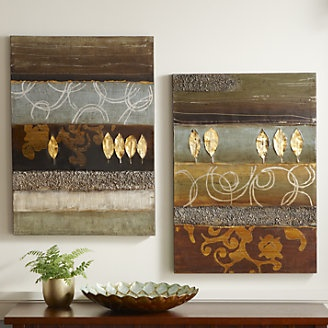 Set of 2 Gold Leaf Canvas Art from Through the Country Door®