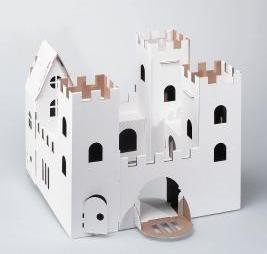 Paintable cardboard castle