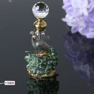 Vintage Glass Crystal Bottles Antique Empty Refillable Perfume Bottle New Gifts