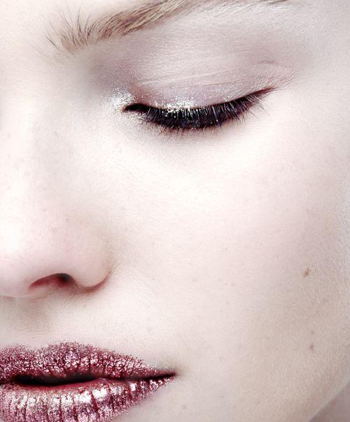 Makeup at Dior Fall 2013 Couture.