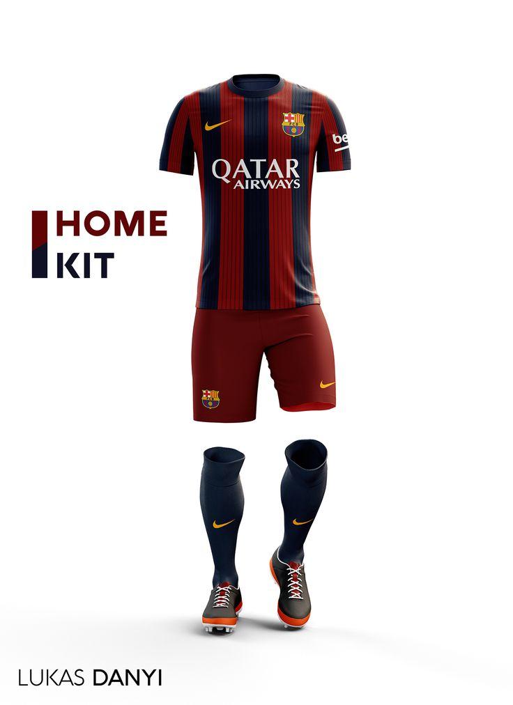 I designed football kits for Fc Barcelona for the upcoming season 16/17.