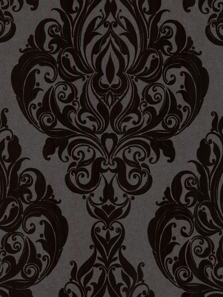 14 besten luxus tapete bilder auf pinterest luxus for Schwarze mustertapete