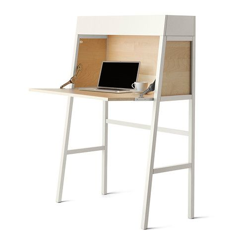 IKEA PS 2014 ビューロー - ホワイト/バーチ材突き板 - IKEA