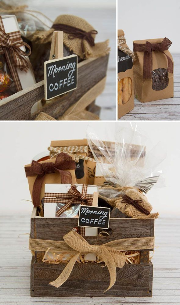 2bbf32216ae8 DIY Coffee Hamper | Hampers | Diy gift baskets, Gift baskets, Christmas  baskets