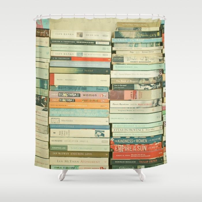 Bookworm Shower Curtain by Cassia Beck | Society6