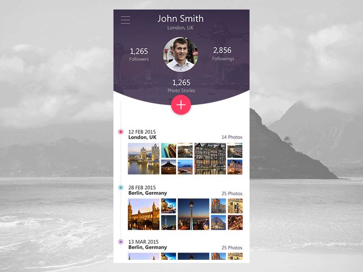 Dribbble - GIF - Mobile App Profile View by OpenXcell