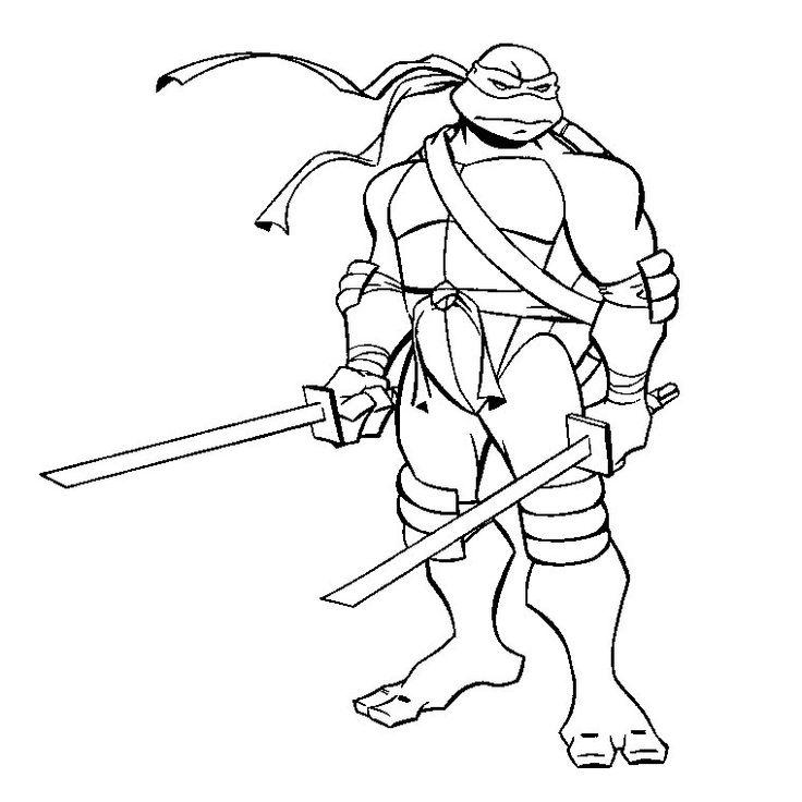 coloriage tortue ninja di 2020