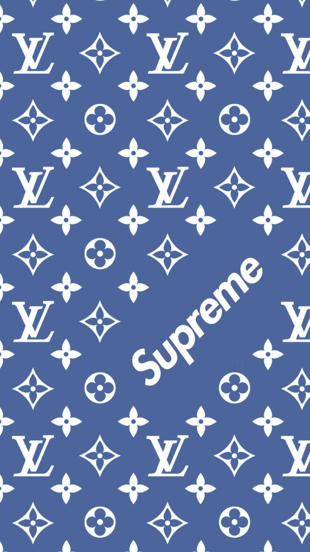 Bape Iphone 7 Wallpaper Louis Vuitton X Supreme Pattern Wallpaper Supreme