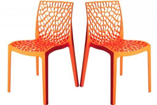 chaise FILET pour Leroy merlin en polypropylène Design aéré et organique, les vides lui donnent une structure alvéolaire qui inspirent la nature