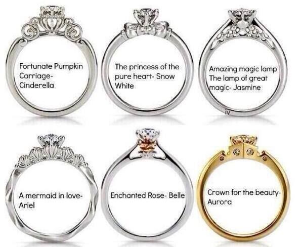 Disney Princess Rings♥ i would die for that cinderella ring! ♥♥♥
