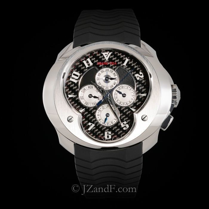 Watch: Franc Vila FVa10 Perpetual Calendar GMT - Black Carbon Fiber Dial    Extremely Limited: Exclusive