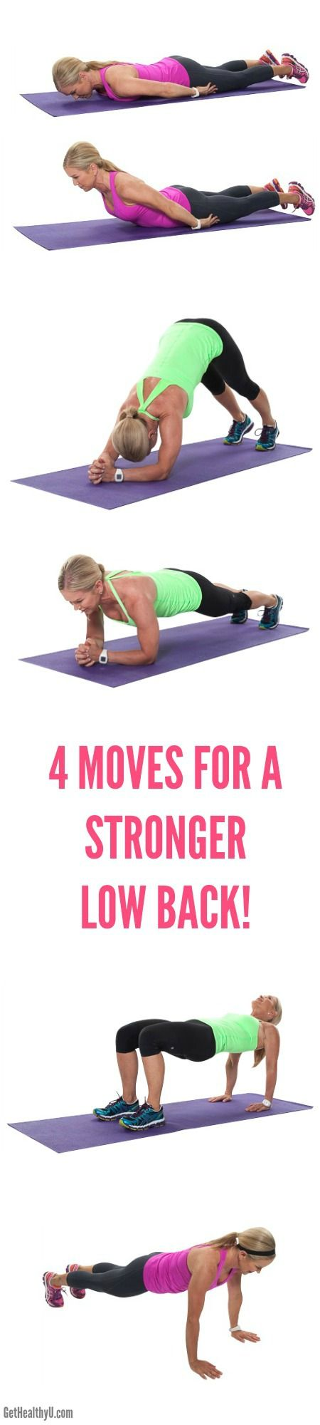 4 Moves For A Stronger Low Back - Get Healthy U