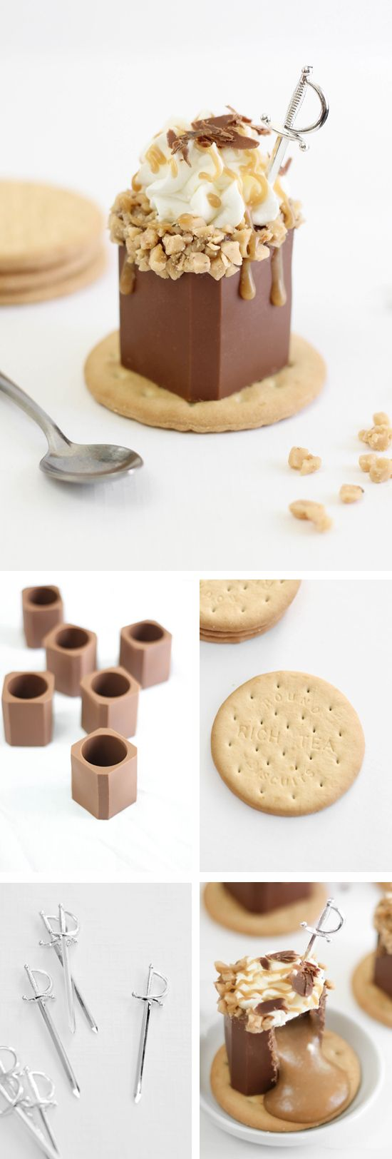 These Butter Toffee Candy Bar Shots look amazing, what a unique idea that's memorable for your guests - Pleaase click for 18 Other Shot Glasses You Can Eat...x