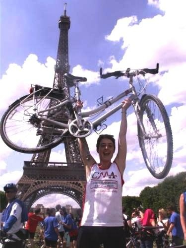 Kate's fantastic London to Paris cycle