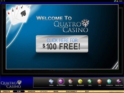 100$ Free at Quatro Casino. Check other great offers. Vizit our page. CasinoRewardsGroup