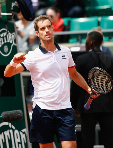 Richard Gasquet in 2015 French Open - Day Six