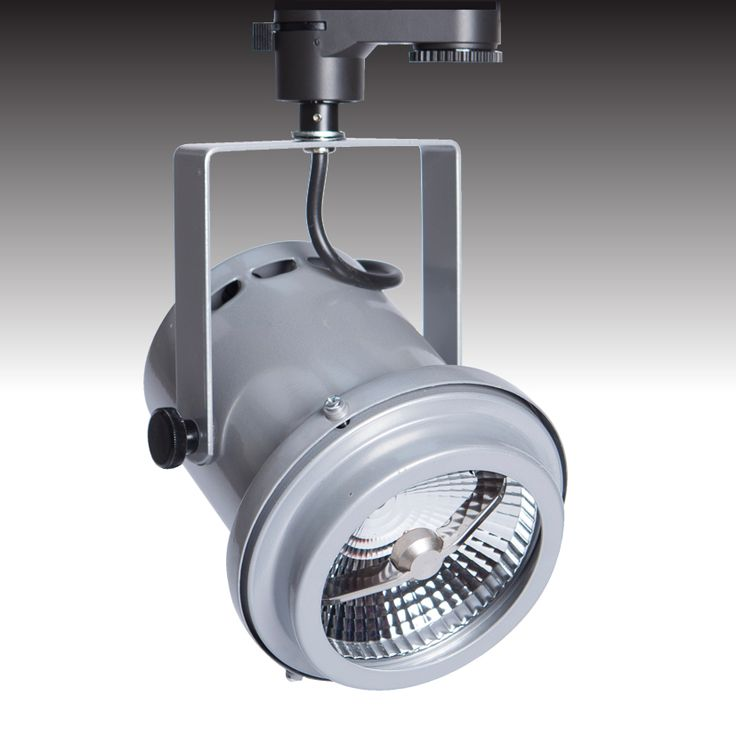 The TRi-PIN-LED trackspot available in 'silver' - from Photec Lighting #led #spotlight #lighting