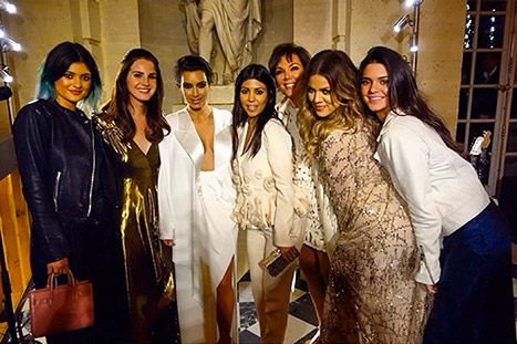 Kim Kardashian poses with Lana Del Rey at her pre-wedding bash.