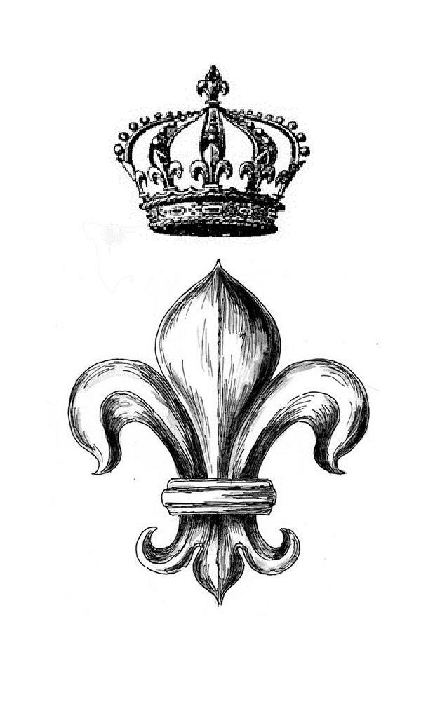 Shoulder tattoo design of fleur de lis with crown by sergiuproca fdl pinterest tattoos - Tattoo tribal fleur ...
