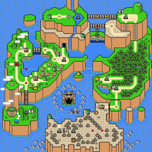 This map is from a classic mario game, the map is abseloutely astonishing in every way the design is amazing and the art style is amazing aswell.