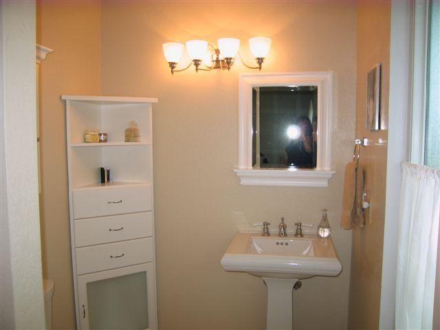 News Bathroom: Traditional Bathroom Design Ideas Applying White Corner  Cabinet Plus Free Standingu2026
