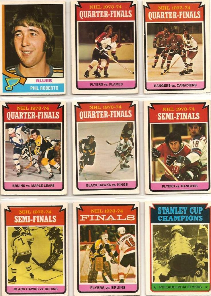 208-216 Phil Roberto, 1973-74 Stanley Cup  Playoff Cards